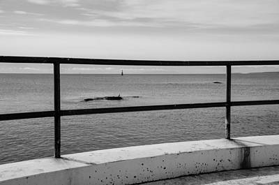 Photograph - Ocean View - B/w by Marilyn Wilson