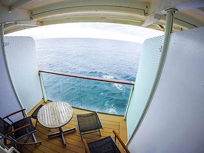 Photograph - Ocean View From Cruise Ship Balcony Room by Alex Grichenko