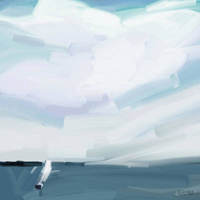 Ocean View From Fire Island Art Print