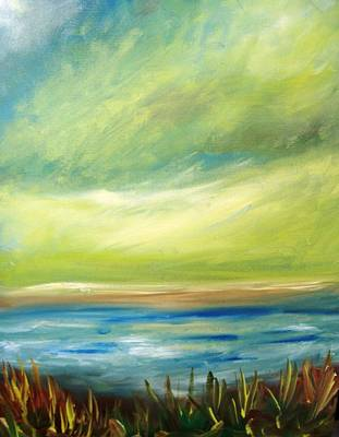 Painting - Ocean View From The Beach House by Patricia Taylor