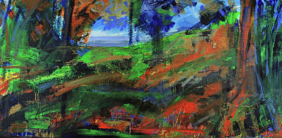 Painting - Ocean View Through The Forest by Walter Fahmy