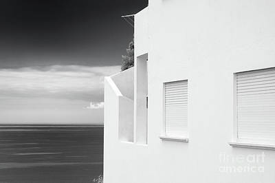 Pop Art Rights Managed Images - Ocean view white house Royalty-Free Image by Jan Brons