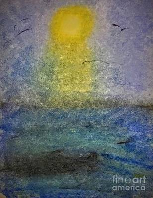 Painting - Ocean View With Sun by Suzn Art Memorial