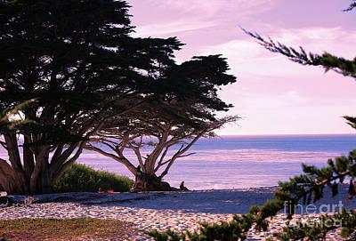 Ocean Views From Carmel Beach  Art Print