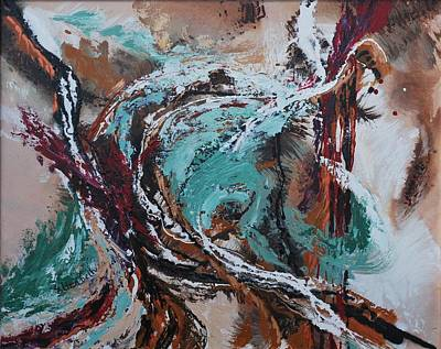 Ocean Wave Abstract Art Print by Beth Maddox