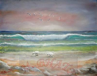 Ocean Wave Art Print by M Bhatt