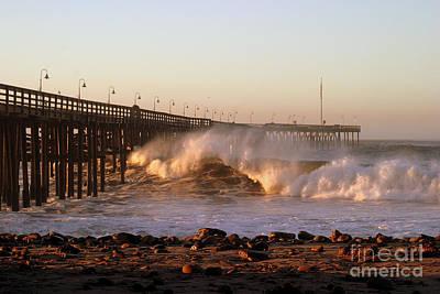 Photograph - Ocean Wave Ventura Pier by Henrik Lehnerer