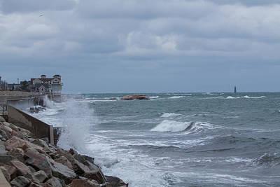 Ocean Waves At Minot Beach Art Print