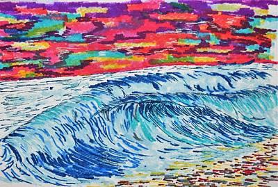 Owls - Ocean Waves at Sunset by Aimee Mann