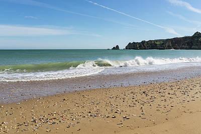Photograph - Ocean Waves Bounty - Beachcombers Treasures On Dona Ana Beach In Lagos Portugal by Georgia Mizuleva