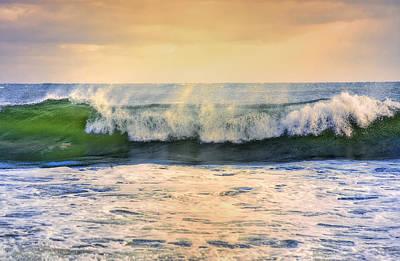 Sunset Photograph - Ocean Waves by Dapixara Art