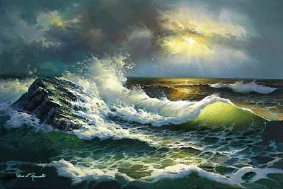 Painting - Ocean Waves by Diane Romanello