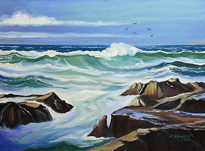 Painting - Ocean Waves by Elizabeth Robinette Tyndall