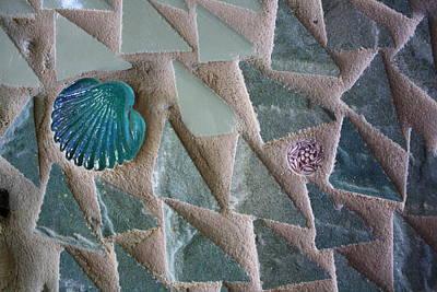 Ocean Waves Mosaic Closeup Art Print