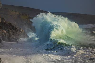 Photograph - Ocean Waves Porthleven by Scenes of Cornwall
