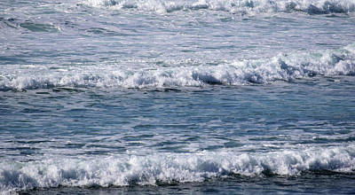 Blue Photograph - Ocean Waves by Sandy Taylor
