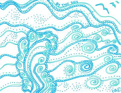 Drawing - Ocean Waves by Carole Brecht