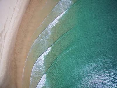 Ocean Waves Upon The Beach Art Print