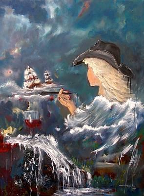 Painting - Ocean Wine by Miroslaw  Chelchowski
