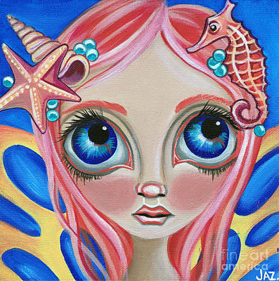 Faery Artists Painting - Oceanic Fairy by Jaz Higgins