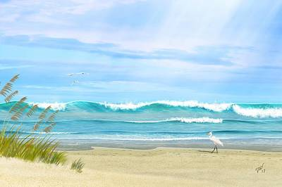 Digital Art - Oceanic Landscape by John Wills