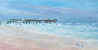 Painting - Oceanic Pier At Wrightsville Beach by Pamela Poole