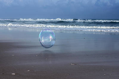 Two Waves Photograph - Oceanic Sphere  by Betsy Knapp
