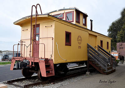 Oceano Depot Museum Caboose  Art Print by Barbara Snyder
