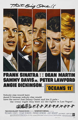 Oceans 11 Photograph - Ocean's 11 Movie Lobby Poster  1960 by Daniel Hagerman