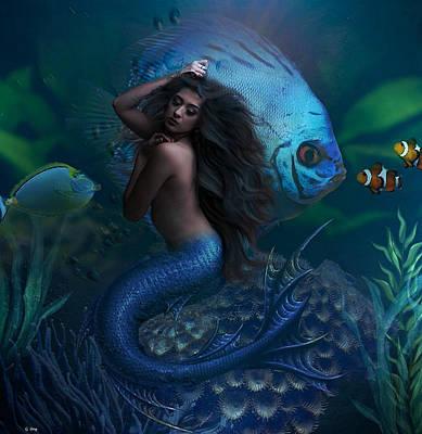 Aquatic Life Mixed Media - Ocean's Beauty by G Berry