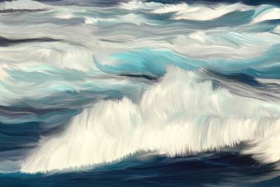 Painting - Oceans Blue by Mark Taylor