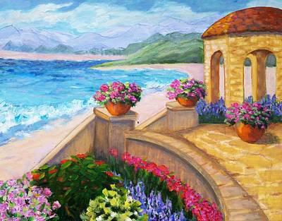 Verandah Painting - Ocean's Edge by Rosie Sherman