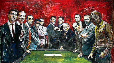 Frank Silva Painting - Ocean's Eleven by Marcelo Neira