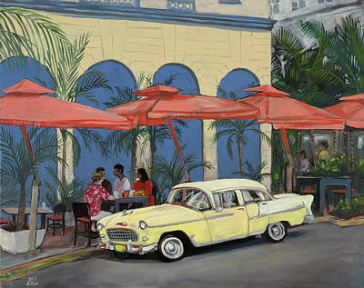 Ocean's10southbeach Art Print by Edward Williams