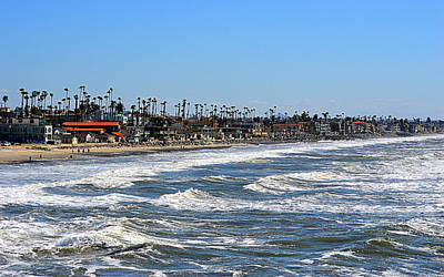 Art Print featuring the photograph Oceanside by AJ Schibig