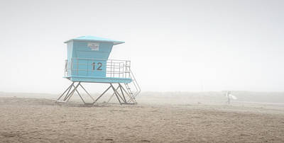 Photograph - Oceanside And Surfer In The Fog by William Dunigan