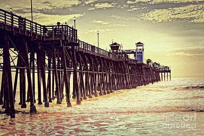 Photograph - Oceanside - Evening At The Pier by Gabriele Pomykaj