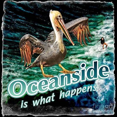 Digital Art - Oceanside Happens by Gabriele Pomykaj