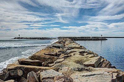 Rocks Photograph - Oceanside Jetty by Ann Patterson