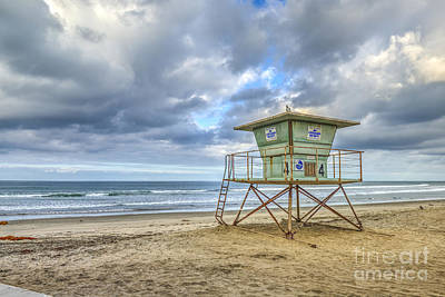 Photograph - Oceanside Lifeguard Tower by David Zanzinger