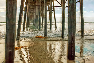 Photograph - Oceanside - Low Tide Under The Pier by Gabriele Pomykaj