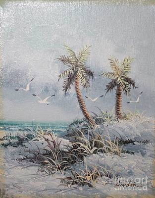 Painting - Oceanside Palm by Bill Hubbard