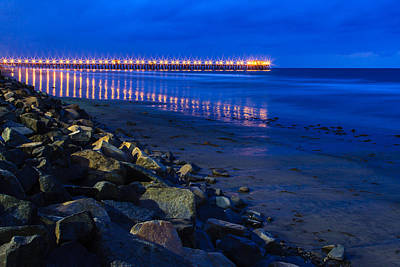Photograph - Oceanside Pier At Night 3 by Ben Graham