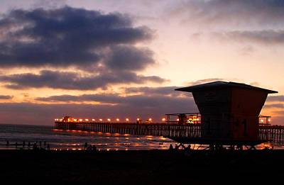 Art Print featuring the photograph Oceanside Pier by Christopher Woods