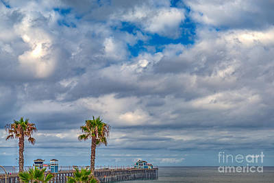 Photograph - Oceanside Pier Cloudy Day by David Zanzinger