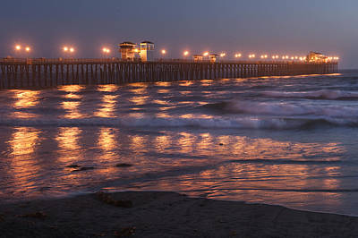 Photograph - Oceanside Pier In The Mist by Sandra Bronstein