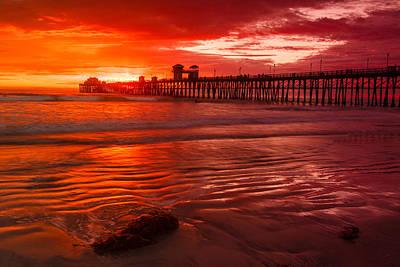 Photograph - Oceanside Pier Sunset 2 by Ben Graham