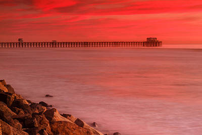 Photograph - Oceanside Pier Sunset 3 by Ben Graham