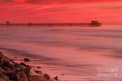 Photograph - Oceanside Pier Sunset 4 by Ben Graham