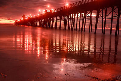 Photograph - Oceanside Pier Sunset by Ben Graham